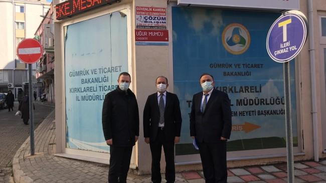 KTSO Başkanı Soner Ilık,  Kırklareli Ticaret İl Müdürü Mustafa Uzan'a  üyelerinin taleplerini iletti