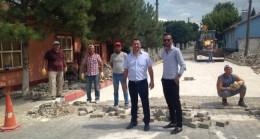Büyükmandıra'da yol yapımı çalışmaları devam ediyor