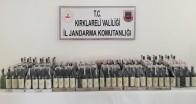 Jandarma 247,5 litre kaçak şarap ele geçirdi