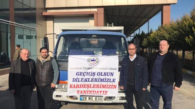 BTSO'dan Elazığ ve Malatya'ya yardım eli uzandı